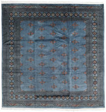 Pakistan Bokhara 2Ply Rug 202X205 Authentic  Oriental Handknotted Square Dark Blue/Dark Grey (Wool, Pakistan)