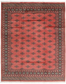 Pakistan Bokhara 2Ply Rug 200X247 Authentic  Oriental Handknotted Rust Red/Dark Red (Wool, Pakistan)