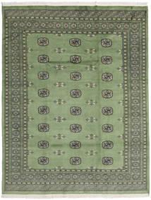 Pakistan Bokhara 2Ply Tæppe 201X258 Ægte Orientalsk Håndknyttet Lysegrå/Olivengrøn (Uld, Pakistan)