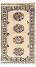Pakistan Bokhara 3Ply Matto 91X158 Itämainen Käsinsolmittu Beige/Tummanharmaa (Villa, Pakistan)
