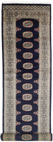 Pakistan Bokhara 3Ply Rug 78X340 Authentic  Oriental Handknotted Hallway Runner  Dark Purple/Light Grey (Wool, Pakistan)