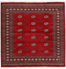 Pakistan Bokhara 2Ply Matto 205X209 Itämainen Käsinsolmittu Neliö Punainen/Tummanpunainen (Villa, Pakistan)