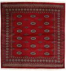 Pakistan Bokhara 2Ply Matto 208X210 Itämainen Käsinsolmittu Neliö Tummanpunainen/Tummanruskea (Villa, Pakistan)