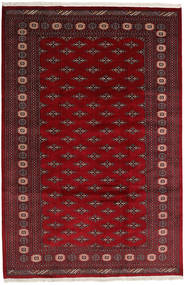 Pakistan Bokhara 2Ply Teppe 200X302 Ekte Orientalsk Håndknyttet Mørk Rød/Mørk Brun (Ull, Pakistan)