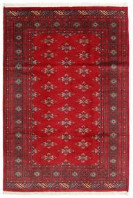 Pakistan Bokhara 2Ply Matto 126X185 Itämainen Käsinsolmittu Tummanpunainen/Punainen (Villa, Pakistan)