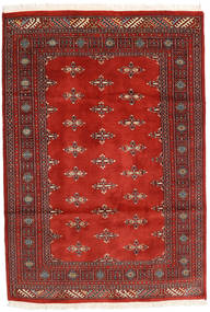 Pakistan Bokhara 2Ply Rug 126X183 Authentic  Oriental Handknotted Dark Red/Rust Red (Wool, Pakistan)