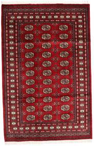 Pakistan Bukara 2Ply Alfombra 125X193 Oriental Hecha A Mano Rojo Oscuro/Roja (Lana, Pakistán)