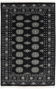 Pakistan Bokhara 2Ply Rug 122X188 Authentic  Oriental Handknotted Black/Dark Grey (Wool, Pakistan)