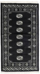 Pakistan Bokhara 2Ply Matto 96X172 Itämainen Käsinsolmittu Musta/Tummanharmaa (Villa, Pakistan)