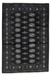Pakistan Bokhara 2Ply Matta 136X199 Äkta Orientalisk Handknuten Svart/Mörkgrå (Ull, Pakistan)