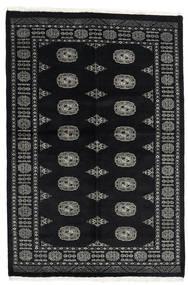Pakistan Bokhara 2Ply Matta 134X202 Äkta Orientalisk Handknuten Svart/Mörkgrå (Ull, Pakistan)