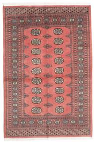 Pakistan Bokhara 2Ply Matto 136X202 Itämainen Käsinsolmittu Tummanbeige/Tummanpunainen (Villa, Pakistan)