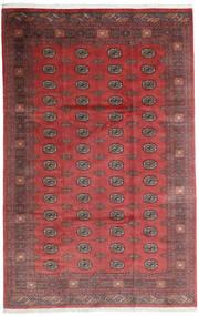 Pakistański Bucharski 3Ply Dywan 200X312 Orientalny Tkany Ręcznie Ciemnoczerwony/Ciemnobrązowy (Wełna, Pakistan)