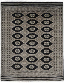 Pakistan Bokhara 2Ply Rug 197X251 Authentic  Oriental Handknotted Dark Grey/Black (Wool, Pakistan)