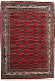 Mir Indo Rug 200X295 Authentic  Oriental Handknotted Dark Red/Dark Grey (Wool, India)