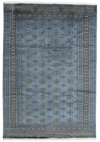 Pakistan Bokhara 2Ply Rug 242X346 Authentic  Oriental Handknotted Dark Grey/Blue (Wool, Pakistan)
