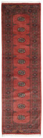 Pakistan Bokhara 3Ply Rug 78X260 Authentic  Oriental Handknotted Hallway Runner  Dark Red/Brown (Wool, Pakistan)