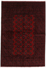 Afghan Rug 162X241 Authentic  Oriental Handknotted Dark Brown/Dark Red (Wool, Afghanistan)