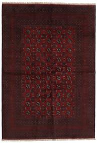 Afghan Matto 161X234 Itämainen Käsinsolmittu Tummanruskea/Tummanpunainen (Villa, Afganistan)