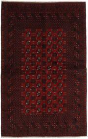 Afghan Teppe 154X244 Ekte Orientalsk Håndknyttet Mørk Brun/Mørk Rød (Ull, Afghanistan)