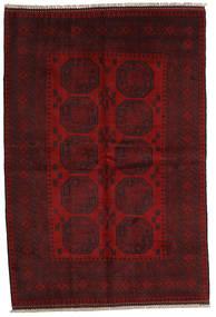 Afghan Rug 161X238 Authentic  Oriental Handknotted Dark Red/Dark Brown (Wool, Afghanistan)