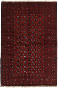 Afghan Rug 158X239 Authentic  Oriental Handknotted Dark Red/Dark Brown (Wool, Afghanistan)