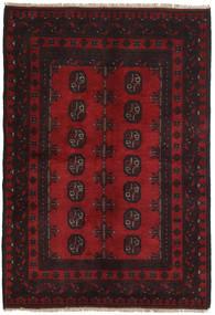 Afghan Teppe 98X143 Ekte Orientalsk Håndknyttet Mørk Brun/Mørk Rød (Ull, Afghanistan)