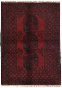 Afghan Rug 99X141 Authentic  Oriental Handknotted Dark Brown/Dark Red (Wool, Afghanistan)