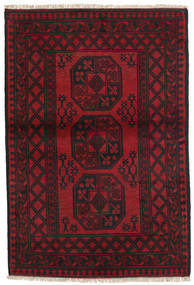 Afghan Tappeto 96X143 Orientale Fatto A Mano Rosso Scuro/Nero (Lana, Afghanistan)