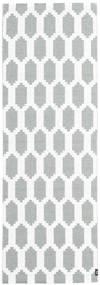 Fortuna - Vert/Blanc Tapis 70X280 Moderne Tapis Couloir Blanc/Crème/Gris Clair ( Suède)