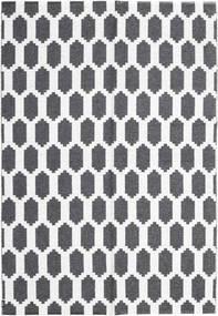 Fortuna - Czarny/White Dywan 150X210 Nowoczesny Ciemnoszary/Biały/Creme ( Szwecja)