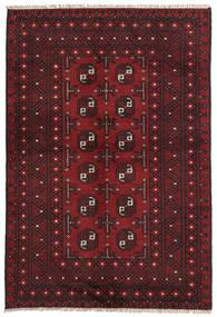 Afghan Teppe 95X142 Ekte Orientalsk Håndknyttet Mørk Rød/Svart (Ull, Afghanistan)