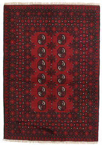 Afgan Dywan 100X144 Orientalny Tkany Ręcznie Ciemnobrązowy/Ciemnoczerwony/Czerwony (Wełna, Afganistan)