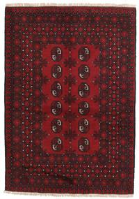 Afghan Tappeto 100X144 Orientale Fatto A Mano Rosso Scuro/Marrone Scuro/Rosso (Lana, Afghanistan)