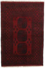 Afghan Matto 99X146 Itämainen Käsinsolmittu Tummanruskea/Tummanpunainen (Villa, Afganistan)