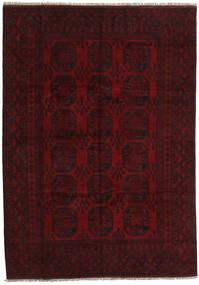 Afghan Matto 197X279 Itämainen Käsinsolmittu Tummanruskea/Tummanpunainen (Villa, Afganistan)