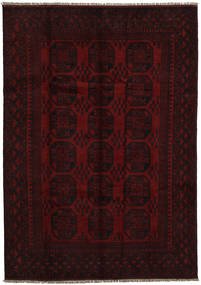 Afghan Rug 197X278 Authentic  Oriental Handknotted Dark Red (Wool, Afghanistan)