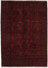 アフガン 絨毯 200X284 オリエンタル 手織り 濃い茶色/深紅色の (ウール, アフガニスタン)