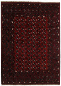 Afghan Rug 207X285 Authentic  Oriental Handknotted Dark Brown/Dark Red (Wool, Afghanistan)