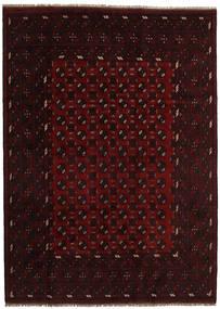 Afghan Rug 207X285 Authentic  Oriental Handknotted Dark Brown/Dark Red (Wool, Afghanistan)