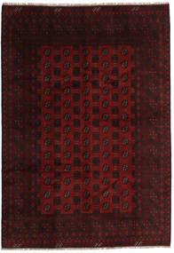 Afghan Rug 196X281 Authentic  Oriental Handknotted Dark Brown/Dark Red (Wool, Afghanistan)
