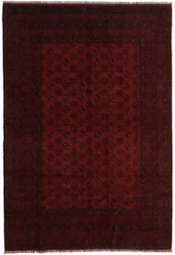 Afghan Rug 195X285 Authentic  Oriental Handknotted Dark Brown/Dark Red (Wool, Afghanistan)