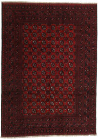 Afghan Rug 200X281 Authentic  Oriental Handknotted Dark Red (Wool, Afghanistan)