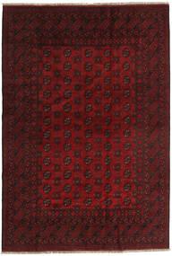Afghan Rug 195X283 Authentic  Oriental Handknotted Dark Red (Wool, Afghanistan)