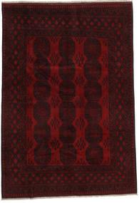 Afghan Teppe 189X276 Ekte Orientalsk Håndknyttet Mørk Brun/Mørk Rød (Ull, Afghanistan)