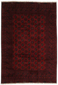 Afghan Rug 196X289 Authentic  Oriental Handknotted Dark Brown/Dark Red (Wool, Afghanistan)