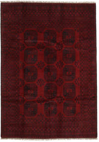 Afghan Rug 199X281 Authentic  Oriental Handknotted Dark Brown/Dark Red (Wool, Afghanistan)