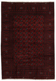 Afghan Rug 202X287 Authentic  Oriental Handknotted Dark Brown/Dark Red (Wool, Afghanistan)