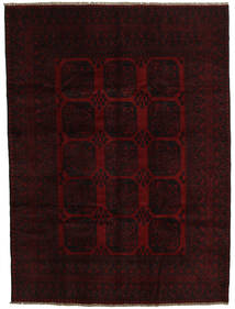 Afghan Rug 203X278 Authentic  Oriental Handknotted Dark Brown/Dark Red (Wool, Afghanistan)