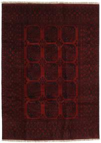 Afghan Tapis 199X279 D'orient Fait Main Marron Foncé/Rouge Foncé (Laine, Afghanistan)
